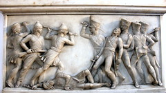 good guys vs. bad guys (kexi) Tags: kolkata india asia church sculpture tomb battle white marble canon february 2017 stonework combat soldiers