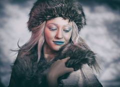 Winter girl (Pawel Wietecha) Tags: girl woman lady model studio light new art emotions portrait eyes look face hair pretty beauty glamour people makeup style dark pawel wietecha femme fille dame beauté belleza dama niña bellezza signora ragazza belle winter blue cold frost snow