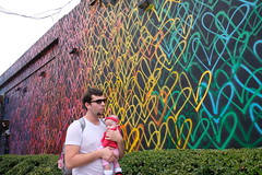 Love and peace (jenny_guo) Tags: love kid children child parents father people miami florida street mural wynwood xpro2 x fujinon 18mm f2 outdoor color colorful colour colourful heart baby