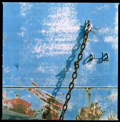 rusty chain (ukke2011) Tags: hasselblad503cw planarcfe8028 cinestillfilm50daylight harbor porto film pellicola analog analogico chain catena ship nave