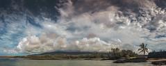 The volcano Hualalai, the shy volcano.  Trust me, it's in there, somewhere!! (iPnone X panorama) (ShutterOak) Tags: hualalai volcano hawaii bigisland clouds