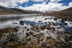 Small lake en route to Jichu Dramo - Lunana Gewog - Gasa District - Snowman Trek - Bhutan (PascalBo) Tags: nikon d500 asie asia southasia asiedusud drukyul drukgyalkhap bhutan bhoutan འབྲུག་ཡུལ། འབྲུག་རྒྱལ་ཁབ་ snowman trek trekking hike hiking lunana gasa himalaya himalayas mountain montagne sky ciel lake lac outdoor outdoors pascalboegli
