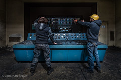 Panic at Control Room ! (Klarix Photo) Tags: panic controlroom control room power plant powerplant centrale industry industrie urbex urban exploration explore exploring abandonné abandonned rusty old decay