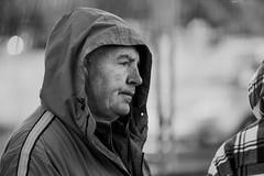 In profile (Frank Fullard) Tags: frankfullard fullard candid street portrait profile castlebar face mayo irish ireland wet rain side monochrome black white blanc noir hood shelter