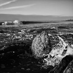 Incoming Tide (evans.photo) Tags: rocks tide waves aberystwyth tanybwlch welshcoast ceredigioncoast coast ceredigion sea