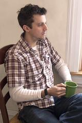 Coffee (Russ Allison Loar) Tags: coffeebreak caffeine drink mug reflection thought christopherandrewloar christopherloar morning hangover portrait actor comedian comic playwright standupcomedy wakingup youngman weekend sundaymorning millennial