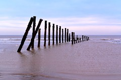 Spurn Beach (rustyruth1959) Tags: seaside ripples waves seaweed sky outdoor seascape horizon decay rot structure tide northsea sea spurnhead spurnbeach spurnpointl kilnsea coast beach eastridingofyorkshire yorkshire england uk nikon1855mm nikond5600 nikon groynes alamy