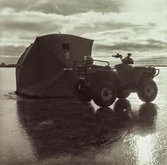 On the Ice In Film (Metrix X) Tags: 400 5minxtol1125and5minxtol13rodinal111521c kodak kodaktmax400tmy lakesimcoe mamiyac220 tmax tmy bw keswick gta ice