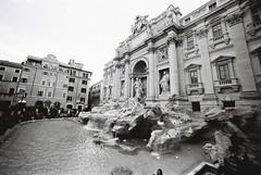Trevi Fountain (goodfella2459) Tags: nikonf4 afnikkor14mmf28dlens cinestillbwxx 35mm blackandwhite film analog roma city trevifountain history fountain italy rome bwfp