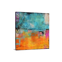 Urban Poetry I Wall Art - Canvas - Gallery Wrap - Giant abstract art almost evenly broken into two horizontal rectangles composed of two cool tones on the top and a warm tone with a small highlight of a cool tone on the bottom.   Check out our website: ht (spaceplug) Tags: shop marketplace spaceplug like buy sell gallerywrap wallart like4like cute nice colors products urbanpoetry followus style fashion follow4follow