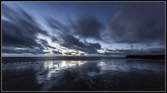 22/365 Sunset at Ayr Beach (B Ryder) Tags: nikon d500 sigma 1020mm wide angle ayr ayrshire scotland clyde coast sea clouds pier lighthouse long exposure 365 project