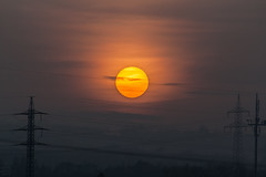 Sunset / @ 300 mm / 2019-01-23 (astrofreak81) Tags: clouds shadow schatten sunset sun wolken sonnenuntergang sonne sky himmel heaven light dawn orangesky orange dresden 20190123 astrofreak81 sylviomüller sylvio müller