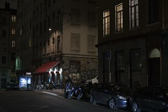 . (Le Cercle Rouge) Tags: lyon france night nuit darkness light humans shadows silhouettes croixrousse