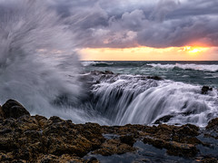 Thors Well (Eric Zumstein) Tags: oregon thorswell florence unitedstates us suset ocean shore
