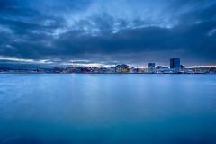Sunrise at Bodø (Normann Photography) Tags: bodø nordland salten arcticcity bluehour budø city goodmorning harbor havnebasseng longexposure northernnorway smooth sunrise norway no