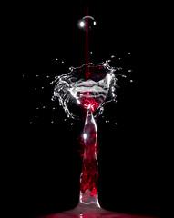 Drop Water Energy (btc67) Tags: goutte drop eau water laser couleur color lazer nrj energy 750d canon power photo photos instragram flash red rouge noir black white blanc design