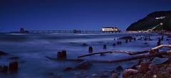 Sellin (FH | Photography) Tags: sellin mecklenburgvorpommern rügen ostsee seebrücke wahrzeichen abends blauestunde strand buhnen bunen steine wasser sunset sonnenuntergang küste norddeutschland himmel natur landschaft steg urlaub meer see