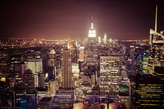 At night... (Through_Urizen) Tags: category citiestowns empirestate newyork nightscenes places topoftherock usa canon1585mm canon550d canon outdoor travelphotography city cityscape lightsatnight nighttime darkness skyline buildings officeblocks skyscrapers metropolis night building sky