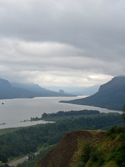 view from Vista House (Bolt of Blue) Tags: columbiariver columbiarivergorge oregon vistahouse river