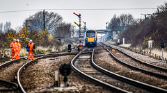 180113 seen from Melton Lane (robmcrorie) Tags: 180113 hull trains kings cross melton lane semaphore signal branch siding engineering nikon d850 200500 ed vr lens train rail railway railfan loco