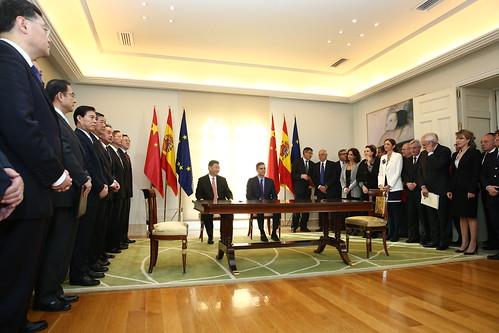 Pedro Sánchez recibe al presidente de China, Xi Jinping (28/11/2018)