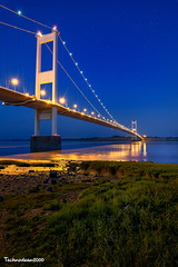 Severn  Crossing (technodean2000) Tags: severn crossing chepstow bristol channel nikon d610 lightroom 1835mm lens night bridge reflection first outdoor people photo south wales uk ©technodean2000 welsh d810 photographer technodean2000 lr ps photoshop nik collection flick flickr wwwflickrcomphotostechnodean2000 www500pxcomtechnodean2000