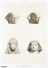 Fragments of Iconic statues from Histoire de l'art égyptien (1878) by Émile Prisse d'Avennes (1807-1879). Digitally enhanced by rawpixel. (Free Public Domain Illustrations by rawpixel) Tags: otherkeywords ancient ancientegyptian ancientegyptianart androsphinx antique archaeological archeology art carving cc0 design drawing dynasty egypt egyptian egyptiankingdom egyptology fragment gods handdrawn histoiredelartégyptien historical history iconic illustration mythology old pharao psd sculpture sepia sketch statue story symbol tomb vintage émileprissedavennes