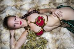 She Tempts Jabba and Santa... (Ring of Fire Hot Sauce 1) Tags: cosplay slaveleia harleykatcosplay christmas boudoir 3sgstudio