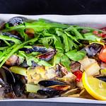 Salad with seafood and arugula thumbnail