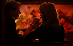 the whisperer (claudia 222) Tags: belgique bar red night talk people man women zeiss 85mm f14 t cinematic