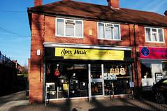 DSC_2174 Music shop, Earley (PeaTJay) Tags: nikond300s england uk berkshire reading earley outdoors architecture buildings shop shops musicshop