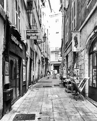 """""""Alley Of Nice"""" (giannipaoloziliani) Tags: streetlife streetphotography details hdr black capture focalpoint capturestreets nizzavecchia vicolidinizza suburbs downtown narrowstreet oldstreet oldnice alleys vicolo old city biancoenero blackandwhite nikoncamera nikon nikonphotography flickr francia france nizza nice"""