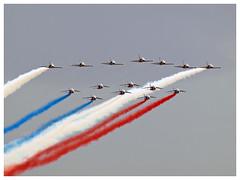 Breitling Jet Team & Patrouille de France (Aerofossile2012) Tags: breitling paf patrouilledefrance breitlingjetteam arméedelair albatros alphajet l39 dassault dijon meetingdefrance 2017