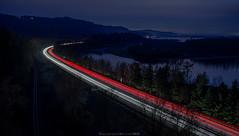 Interstate 84 (John Behrends) Tags: night pentax pentaxk1 bridalveil gorge oregon columbiagorge