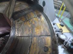 Resize of P1360511 (OpalStream) Tags: rudder marine vessel repair works overhauling workshop measurements filler gauge dirt