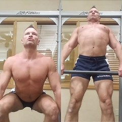 deadlift (ddman_70) Tags: shirtless pecs abs muscle gym workout shortshorts deadlifts