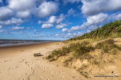 Beach on the Baltic in Latvia (doveoggi) Tags: 2263 latvia coast europe beach balticsea clouds