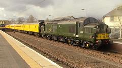 37057 & 37421 at Lanark (DRS66421) Tags: class37 networkrail lanark plpr train testtrain colas colasrail 37057 37421 brgreen
