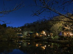 Deerpark's Millpond At Night (CJD imagery) Tags: autumn visitcornwall travelphotography travel canonefs18135mmf3556isstm canoneos80d nature nightphotography nightscape longexposure cabins millpond forestholidays liskeard cornwall deerpark england gb greatbritain uk unitedkingdom