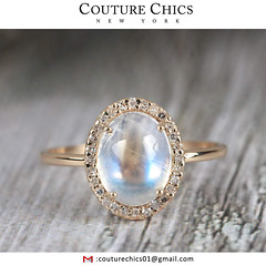 Genuine Moonstone Gemstone Diamond Pave Cocktail Ring Solid 14k Yellow Gold Handmade Jewelry (couturechics.facebook1) Tags: solid 14k yellow gold genuine blue moonstone cocktail ring pave diamond gemstone wedding jewelry special gifts for christmas