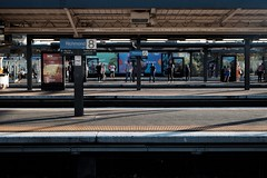 Platform 10 (jhnmccrmck) Tags: december summer australia passengers people afternoonlight platform xt1 classicchrome fujifilm 3121 richmondtrainstation richmond melbourne iminexplore