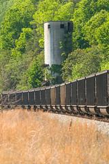 18-2632 (George Hamlin) Tags: virginia gladstone railroad freight train coal gondolas loads eastbound csx trees coaling tower track ballast photo decor george hamlin photography