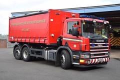 Warwickshire - BX55DCU - PM - Coleshill (matthewleggott) Tags: warwickshire fire rescue service engine appliance coleshill bx5dcu pm prime mover pod scania angloco rtc