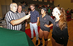 IMG_3162 (SJH Foto) Tags: girls high school volleyball bishop shanahan hempfield state pool play championships canon 1018 f4556 stm superwide lens pregame ceremonies ref referee captains coin toss coaches