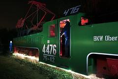 emergency brake (Sven Gérard (lichtkunstfoto.de)) Tags: lightpainting sooc lightartphotography lichtkunstfoto svengerard bagger1452 lausitz hagenwerder train lostplace abandoned industrial