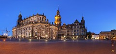 IMG_0078_stitch (AndyMc87) Tags: dresden night blue hour stitch architecture building hausmannsturm residenzschloss hofkirche platz himmel sky baukran canon eos 6d 1740 l street langzeitbelichtung longtimeexposure theaterplatz