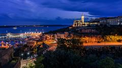 night.lights (K.H.Reichert [ not explored ]) Tags: kirche lighttrails church blauestunde gozo malta night kiosk nightshot nachtfoto hafen ferrygozo harbour
