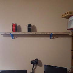 A shelf for filaments (Body without a Face) Tags: 3dprints filament shelf