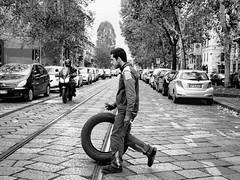 2018 Attraverso #milano #portaromana #pneumatici #gomme #blackandwhite #biancoenero #streetphotography #street #life #pavé #pavè #fleurdemilan #attraverso #photorealism #photoart #photooftheday #followme #art #instacool #instalove #follow4follow #picofthe (francesco ratti) Tags: instagramapp square squareformat iphoneography uploaded:by=instagram