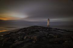 Perchrock lighthouse at dusk (deepak.abhishek) Tags: lighthouse perchrocklighthouse newbrighton cheshire landscape landscapephotography canoneos5dmarkiii britain longexposure rocks beach moodylandscape ngc